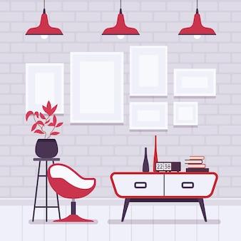 Recurso de loft interno do quarto do estúdio