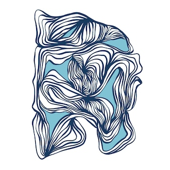 Recurso gráfico vetorial de linhas curvas de tinta pincelada de arte digital