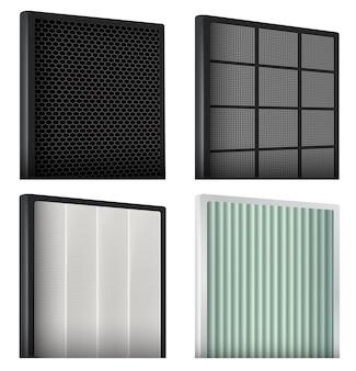Recursos de detalhes do filtro de ar e o uso de filtros em sistemas de purificação de ar