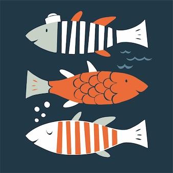 Recursos gráficos de ilustração vetorial de peixes escandinavos