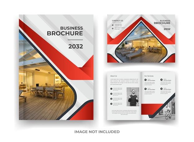 Red and black 04 página design de brochura de negócios e relatório anual e modelo de revista