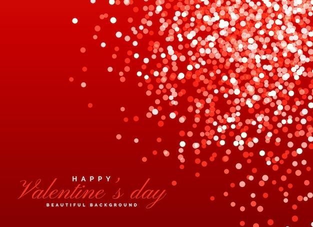 Red glitter bokeh efeito de luz de fundo para o dia dos namorados