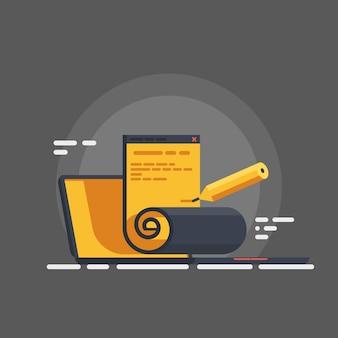 Redação, criação de conteúdo, assinatura eletrônica
