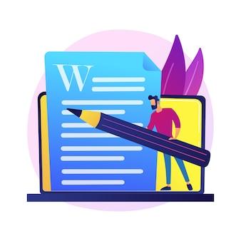 Redação de conteúdo criativo. redação publicitária, blogging, marketing na internet. edição e publicação de textos de artigos. documentos online. escritor, personagem do editor.