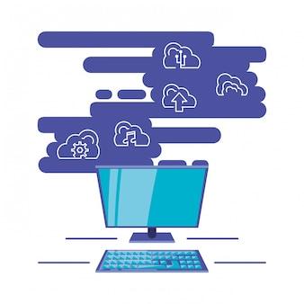 Rede de computação em nuvem com desktop