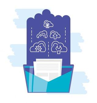 Rede de computação em nuvem com envelope