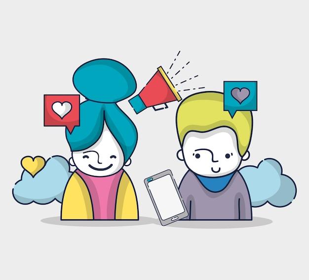 Rede de conexão social de mídia de pessoas
