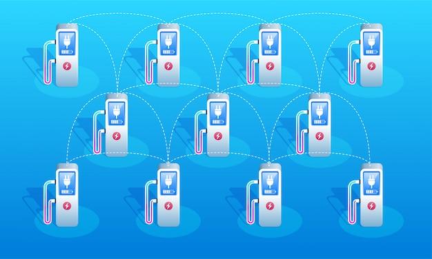 Rede de estações de carregamento