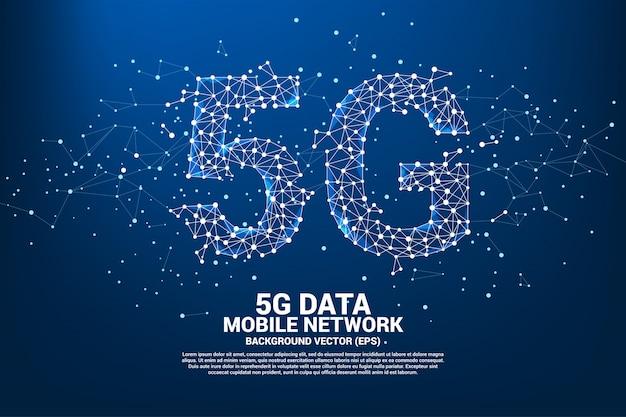Rede de rede móvel 5g.
