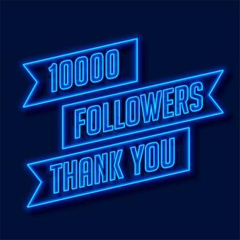 Rede de seguidores de 1000 obrigado cartaz
