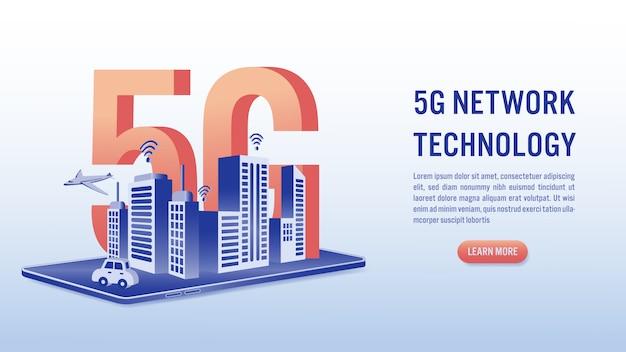 Rede de tecnologia sem fio, conceito de internet de alta velocidade.