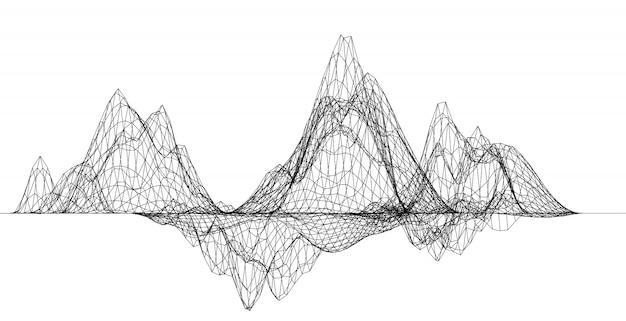 Rede de teia de aranha abstrata