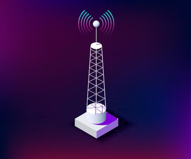 Rede de torre sem fio de comunicação