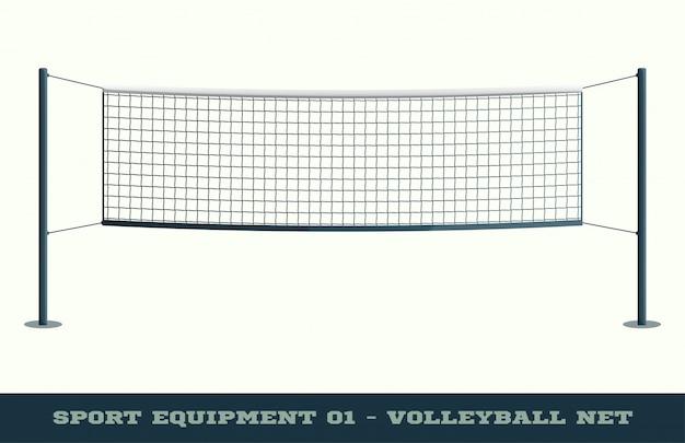 Rede de vôlei para jogo esportivo, atividade de lazer