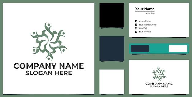 Rede e logotipo de design de ícone social