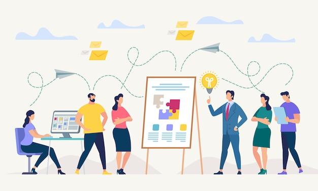 Rede e trabalho em equipe. ilustração vetorial.