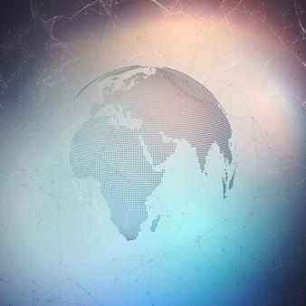 Rede futurista abstrata fundo de alta tecnologia