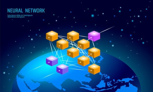 Rede internacional neural, rede de neurônios globais, aprendizagem profunda cognitiva