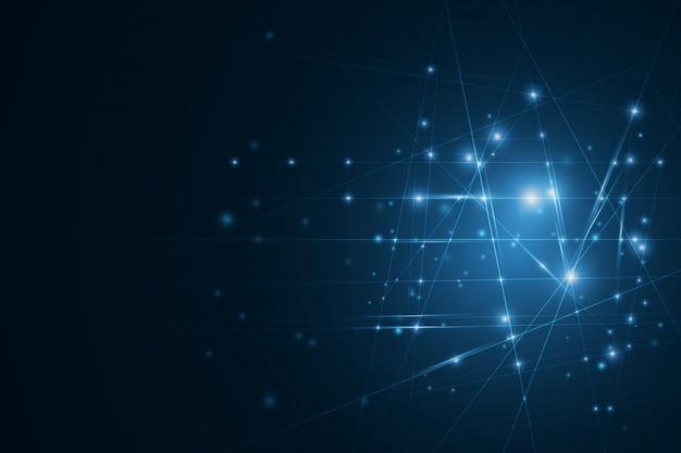 Rede neural de alta tecnologia células conectadas com links