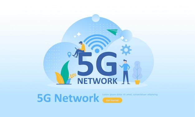 Rede sem fio 5g internet mobile