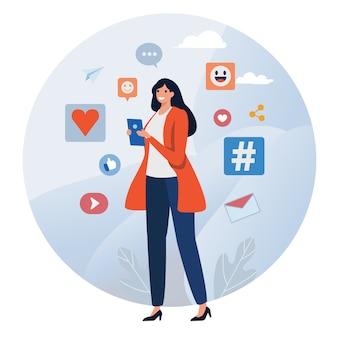 Rede social. comunidade online.