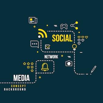 Rede social comunitária abstrata