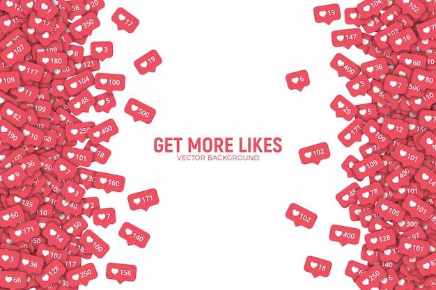 Rede social instagram como counter icons abstract border
