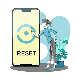Redefinir as configurações de fábrica ou reiniciar o celular manualmente