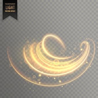Redemoinho abstrato efeito efeito de luz transparente