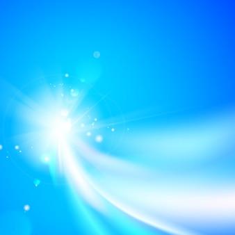 Redemoinho de formas abstratas e fundo de vetor azul