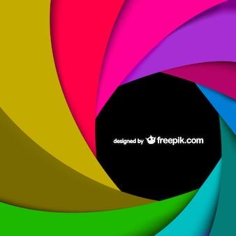 Redemoinho do arco-íris do vetor da arte