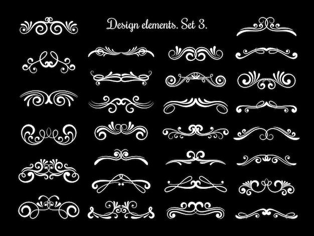 Redemoinhos de vetor de caligrafia ornamentada