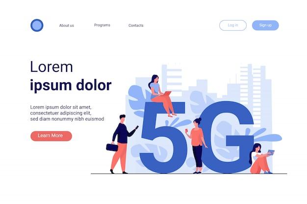 Redes 5g e conceito de telecomunicações