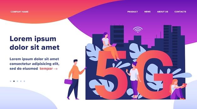 Redes 5g e conceito de telecomunicações.
