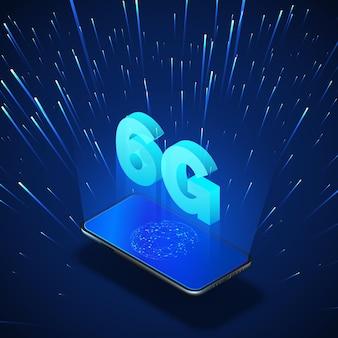 Redes móveis globais 6g de alta velocidade.