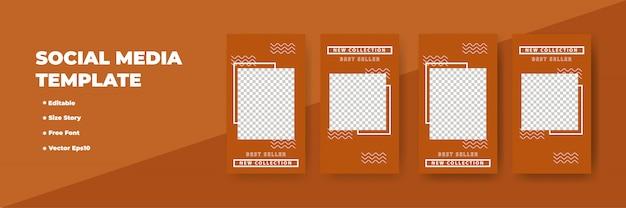 Redes sociais criativas histórias design, banner vertical
