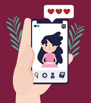 Redes sociais de chat de vídeo móvel