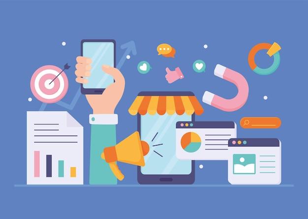 Redes sociais de marketing