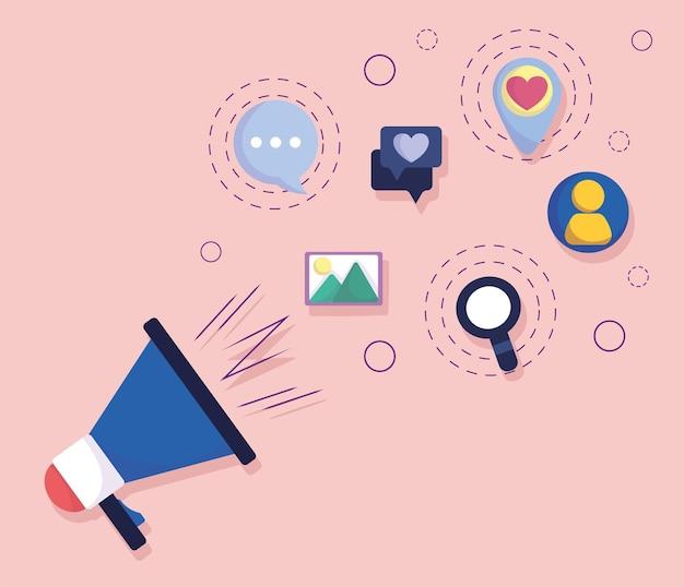 Redes sociais de promoção de estratégia de marketing