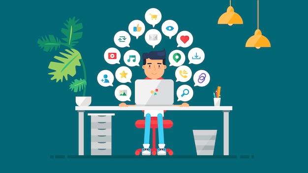 Redes web virtual socail