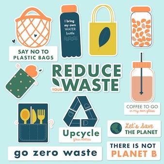 Reduza seus adesivos de lixo