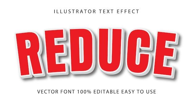 Reduzir efeito de texto editável