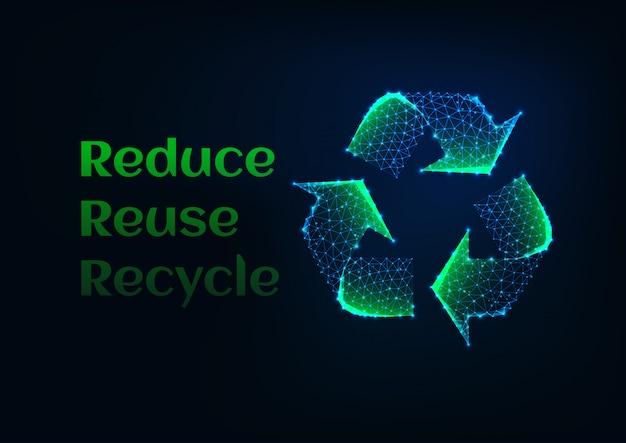 Reduzir reutilizar a bandeira de ecologia de reciclagem