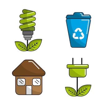 Reduzir, reutilizar e reciclar ícone
