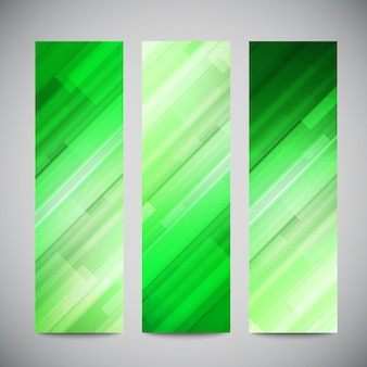 Reed banners verticais de baixo poli conjunto com linhas abstratas poligonais. abstrato poligonal brilhante.