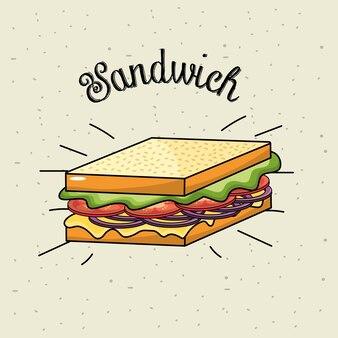 Refeição deliciosa do fast food do sanduíche