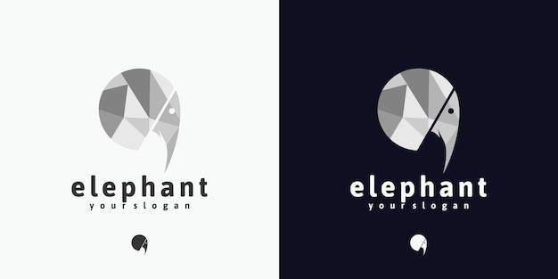 Referência do logotipo da cabeça de elefante