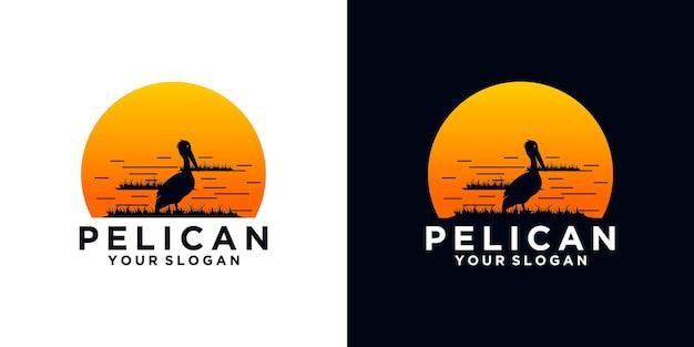 Referência do logotipo pelican para negócios
