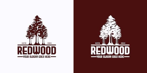 Referência do logotipo vintage, redwood