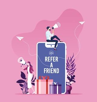 Referir um conceito de amigo